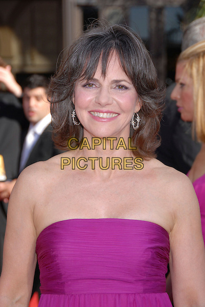 SALLY FIELD.59th Annual Primetime Emmy Awards held at the Shrine Auditorium, Los Angeles, California, USA..September 16th, 2007.headshot portrait pink strapless .CAP/ADM/BP.©Byron Purvis/AdMedia/Capital Pictures.