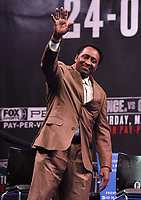LOS ANGELES - FEBRUARY 16: Tommy Hearns attends the Los Angeles press conference for the March 16 Fox Sports PBC PPV of the Errol Spence Jr. vs Mikey Garcia fight on February 16, 2019 in Los Angeles, California. The March 16 fight will be at the AT&T Stadium in Dallas, Texas. (Photo by Frank Micelotta/Fox Sports/PictureGroup)