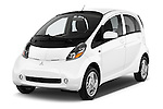 2016 Mitsubishi iMiEV 5 Door Micro Car Angular Front stock photos of front three quarter view