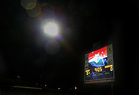 Boyds, MD - Friday Sept. 30, 2016: Video screen prior to a National Women's Soccer League (NWSL) semi-finals match between the Washington Spirit and the Chicago Red Stars at Maureen Hendricks Field, Maryland SoccerPlex. The Washington Spirit won 2-1 in overtime.