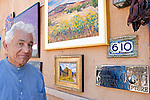 Adieb Khadoure, owner of Adieb Khadoure Fine Arts on Canyon Road, Santa Fe, New Mexico