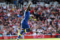 Romelu Lukaku of Everton celebrates scoring the opening Everton goal during Arsenal vs Everton, Premier League Football at the Emirates Stadium on 21st May 2017