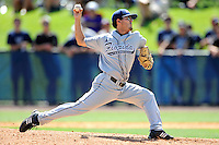 22 May 2010:  FIU's Eric Berkowitz (2) pitches in the seventh inning as the Florida Atlantic University Owls defeated the FIU Golden Panthers, 14-10, at FAU Stadium in Boca Raton, Florida.