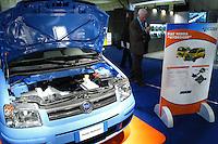 - FIAT Panda car powered by hydrogen..- auto FIAT Panda alimentata ad idrogeno