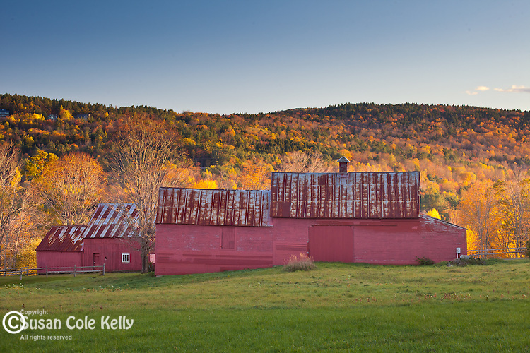 Red barn in Quechee, VT, USA