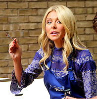 NEW YORK,NY - July 19, 2012: Kelly Ripa on Live! with Kelly filming the Grilling with the Stars segment. New York City. © RW/MediaPunch Inc. /*NORTEPHOTO.com* **SOLO*VENTA*EN*MEXICO** **CREDITO*OBLIGATORIO** *No*Venta*A*Terceros* *No*Sale*So*third* ***No*Se*Permite*Hacer Archivo***No*Sale*So*third*©Imagenes*