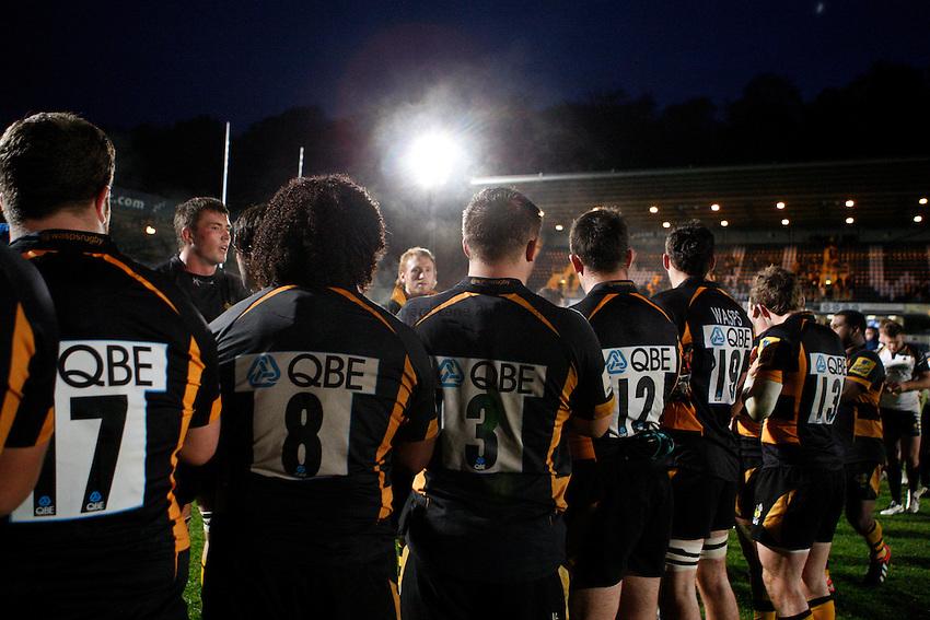 Photo: Richard Lane/Richard Lane Photography. London Wasps v Worcester Warriors. LV= Cup. 18/11/2012. Wasps tunnel.
