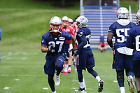 June 7, 2018: New England Patriots corner back Ryan Lewis (27) works out at the team's mini camp held on the practice fields at Gillette Stadium, in Foxborough, Massachusetts. Eric Canha/CSM