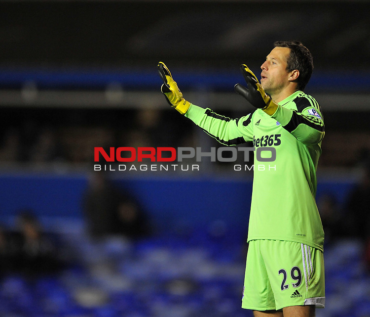 Stoke City's Jack Butland in action. -  -  29/10/2013 - SPORT - FOOTBALL - ST Andrew's - Birmingham - Birmingham City v Stoke City - Capital One Cup - Forth Round<br /> Foto nph / Meredith<br /> <br /> ***** OUT OF UK *****