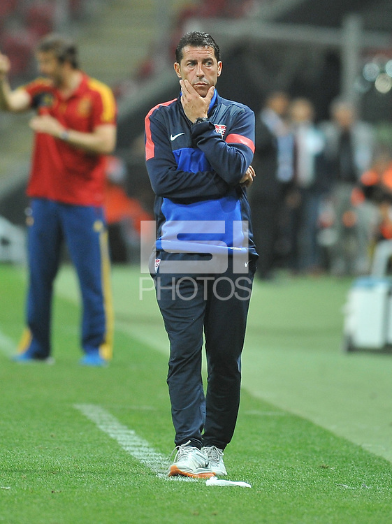 USA U20's Coach Tab Ramos during their FIFA U-20 World Cup Turkey 2013 Group Stage Group A soccer match USA U20 betwen Spain at the Kadir Has stadium in Kayseri on June 21, 2013. Photo by Aykut Akici/isiphotos.com