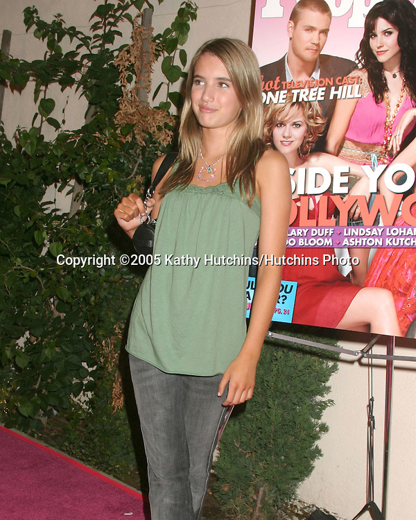 Emma Roberts.Teen People Party.The Cabana Club.Los Angeles, CA.August  13, 2005.©2005 Kathy Hutchins / Hutchins Photo