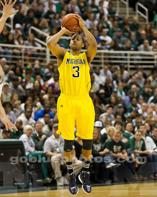 The University of Michigan men's basketball team fell to Michigan State, 64-54, at the Breslin Center in East Lansing, Mich., on February 5th, 2012.