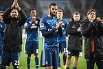 13.01.2018, WWK-Arena, Augsburg, GER, 1.FBL, FC Augsburg vs Hamburger SV, im Bild<br /> <br /> Enttaeuschte Hamburger bei den Fans<br /> <br /> Foto &copy; nordphoto / Schreyer