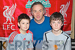 Pictured at the evening with John Aldridge in Ballyroe on Thursday night, from left: Adam Kavanagh, Gary Kavanagh and Ben Kavanagh, all from Tralee.