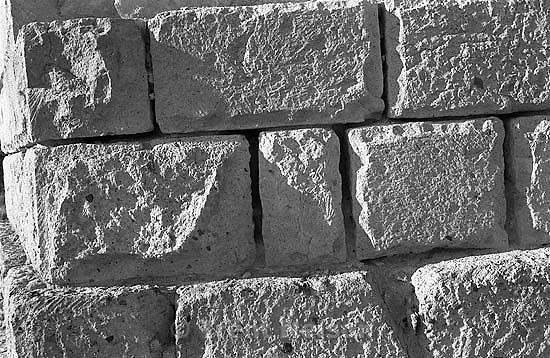 Bricks at ruins of Old Irontown.<br />