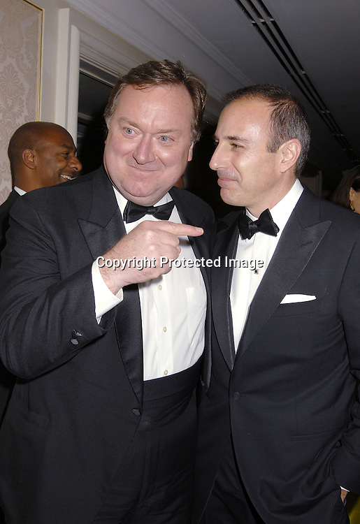 Tim Russert and Matt Lauer..at The Museum of The Moving Image Dinner Honoring ..Matt Lauer, co-anchor of NBC News' Today and Debra Lee, Chairman and ECO of BET Networks on April 26, 2007 at The St Regis Hotel. ..Robin Platzer, Twin Images