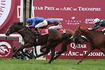 October 07, 2018, Longchamp, FRANCE - Royal Marine with Oisin Murphy up winning the Qatar Prix Lean-Luc Lagardere (Grand Criterium) (Gr. I) at  ParisLongchamp Race Course  [Copyright (c) Sandra Scherning/Eclipse Sportswire)]