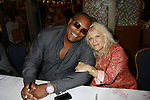 """One Life To Live's Ilene Kristen """"Roxy"""" and Sean Ringgold as they attend the 25th Annual Broadway Flea Market & Grand Auction to benefit Broadway Cares/Equity Fights Aids on September 25, 2011 in New York CIty, New York.  (Photo by Sue Coflin/Max Photos)"""