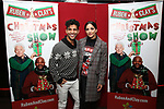 """Carlos E. Gonzalez and Ana Villafane attend the Opening Night After Party for """"Ruben & Clay's First Annual Christmas Show"""" on December 11, 2018 at The Copacabana Times Square in New York City."""