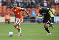 Blackpool's Jay Spearing and Bradford City's Eoin Doyle<br /> <br /> Photographer Rachel Holborn/CameraSport<br /> <br /> The EFL Sky Bet League One - Blackpool v Bradford City - Saturday September 8th 2018 - Bloomfield Road - Blackpool<br /> <br /> World Copyright &copy; 2018 CameraSport. All rights reserved. 43 Linden Ave. Countesthorpe. Leicester. England. LE8 5PG - Tel: +44 (0) 116 277 4147 - admin@camerasport.com - www.camerasport.com