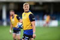 Jack Walker of Bath Rugby looks on during the pre-match warm-up. Heineken Champions Cup match, between Bath Rugby and Stade Toulousain on October 13, 2018 at the Recreation Ground in Bath, England. Photo by: Patrick Khachfe / Onside Images