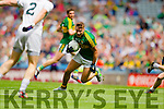 James O'Donoghue, Kerry in action against  Kildare in the All Ireland Quarter Final at Croke Park on Sunday.