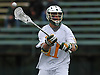 Jeremy Morgan #11 of LIU Post makes a pass during the the ECC men's lacrosse championship against New York Institute of Technology at LIU Post on Saturday, May 7, 2016. He tallied three goals and an assist in Post's 12-11 win.