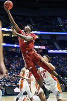 NWA Democrat-Gazette/BEN GOFF @NWABENGOFF<br /> Adrio Bailey, Arkansas forward, makes a shot in the first half vs Florida Thursday, March 14, 2019, during the second round game in the SEC Tournament at Bridgestone Arena in Nashville.