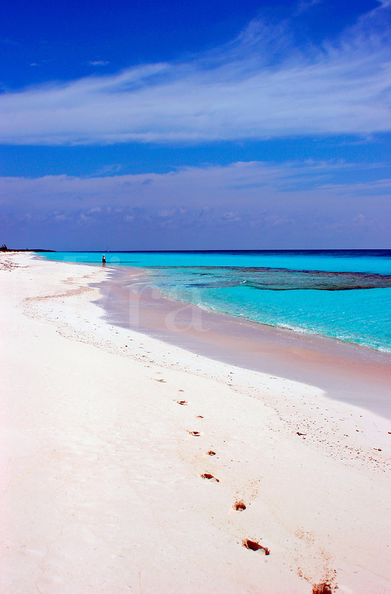 Remote beach on Highbourne Cay, Exuma Islands, Bahamas