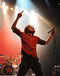 Zack de la Rocha of Rage Against The Machine performs live at their 1st L.A. concert in nearly 10 years to a sold out crowd, the concert is a benefit to help Arizona Organizations fight SB1070 . The show was held at The Hollywood Palladium in Hollywood, California on July 23,2010                                                                   Copyright 2010  DVS / RockinExposures