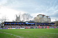 A general view of the West stand at the Recreation Ground. European Rugby Champions Cup match, between Bath Rugby and RC Toulon on January 23, 2016 at the Recreation Ground in Bath, England. Photo by: Patrick Khachfe / Onside Images