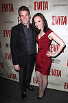Claybourne Elder & Melissa van der Schyff.attending the Broadway Opening Night Performance of 'EVITA' at the Marquis Theatre in New York City on 4/6/2012