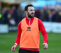 Lincoln City's Neal Eardley during the pre-match warm-up<br /> <br /> Photographer Andrew Vaughan/CameraSport<br /> <br /> The EFL Sky Bet League Two - Lincoln City v Port Vale - Tuesday 1st January 2019 - Sincil Bank - Lincoln<br /> <br /> World Copyright &copy; 2019 CameraSport. All rights reserved. 43 Linden Ave. Countesthorpe. Leicester. England. LE8 5PG - Tel: +44 (0) 116 277 4147 - admin@camerasport.com - www.camerasport.com