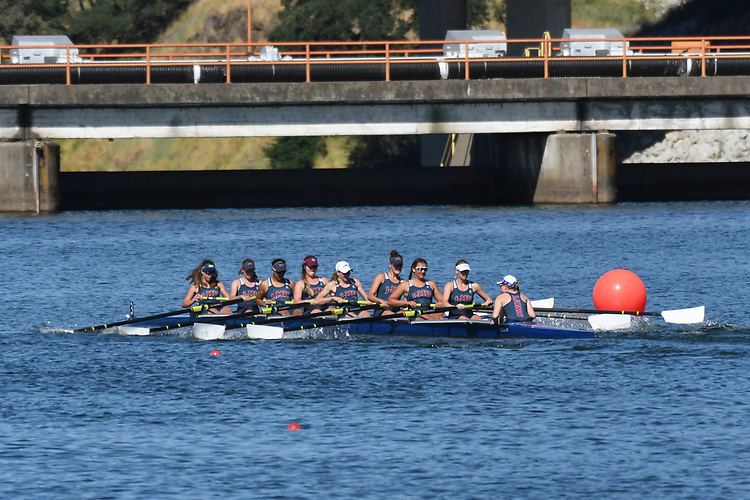 May 13, 2017; Gold River, CA, USA; II Eight Santa Clara Broncos during the WCC Rowing Championships at Lake Natoma.