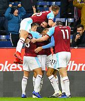 Burnley players celebrate Dwight McNeil's goal<br /> <br /> Photographer Alex Dodd/CameraSport<br /> <br /> The Premier League - Burnley v West Ham United - Sunday 30th December 2018 - Turf Moor - Burnley<br /> <br /> World Copyright © 2018 CameraSport. All rights reserved. 43 Linden Ave. Countesthorpe. Leicester. England. LE8 5PG - Tel: +44 (0) 116 277 4147 - admin@camerasport.com - www.camerasport.com