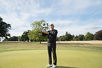 Tom Lewis with the Bridgestone Challenge trophy during the final round of the  Bridgestone Challenge, Luton Hoo Hotel, Bedfordshire, England. 09/09/2018.<br /> Picture  / Golffile.ie<br /> <br /> All photo usage must carry mandatory copyright credit (&copy; Golffile | )