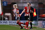 Mollie Green comes on to replace Maddy Cusack of Sheffield United during the The FA Women's Championship match at the Proact Stadium, Chesterfield. Picture date: 12th January 2020. Picture credit should read: James Wilson/Sportimage