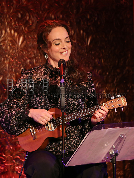 """Melissa Errico during her """"Sings Sondheim"""" press preview on October 3, 2018 at Feinstein's/54 Below in New York City."""
