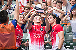 The French team signs autographs during the HSBC Hong Kong Rugby Sevens 2017 on 09 April 2017 in Hong Kong Stadium, Hong Kong, China. Photo by Marcio Rodrigo Machado / Power Sport Images