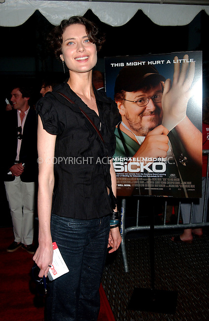 WWW.ACEPIXS.COM . . . . .....June 18, 2007. New York City.....Model Shalom Harlow arrives at the New York premiere of 'Sicko' held at the Ziegfeld Theatre...  ....Please byline: Kristin Callahan - ACEPIXS.COM..... *** ***..Ace Pictures, Inc:  ..Philip Vaughan (646) 769 0430..e-mail: info@acepixs.com..web: http://www.acepixs.com