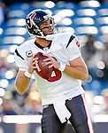 1 November 2009: Houston Texans' quarterback Matt Schaub warms up prior to a game against the Buffalo Bills at Ralph Wilson Stadium in Orchard Park, New York, United States of America. The Texans defeated the Bills 31-10. Mandatory Credit: Ed Wolfstein Photo