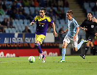 Thursday 08 August 2013<br /> Pictured: Chico Flores of Swansea (L)<br /> Re: Malmo FF v Swansea City FC, UEFA Europa League 3rd Qualifying Round, Second Leg, at the Swedbank Stadium, Malmo, Sweden.
