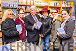 Pictured at Francis Brennan book signing 'Count Your Blessings' at O'Mahonys Book Shop, Tralee were l-r: Elizabeth Stack (Cois Coille, Tralee), Donna McPeake (Cois Coille, Tralee), Francis Brennan, Kathleen Collins (Ashleigh Downs, Tralee) Aoife O'Donoghue (Manor)  and Jennifer Kissane (Dromavalla, Tralee).
