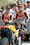 austin. tejas. USA. motociclismo<br /> GP in the circuit of the americas during the championship 2014<br /> 12-04-14<br /> En la imagen :<br /> qualifying Moto GP<br /> dani pedrosa<br /> marc marquez<br /> photocall3000 / rme