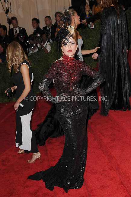 WWW.ACEPIXS.COM . . . . . .May 6, 2013...New York City... attending the PUNK: Chaos to Couture Costume Institute Benefit Gala at The Metropolitan Museum of Art in New York City on May 6, 2013  in New York City ....Please byline: Kristin Callahan...ACEPIXS.COM...Ace Pictures, Inc: ..tel: (212) 243 8787 or (646) 769 0430..e-mail: info@acepixs.com..web: http://www.acepixs.com .