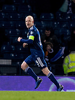 19th November 2019; Hampden Park, Glasgow, Scotland; European Championships 2020 Qualifier, Scotland versus Kazakhstan; Steven Naismith of Scotland celebrates after scoring Scotlands second goal for 2-1 in the 64th minute - Editorial Use