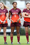 04 October 2015: Virginia Tech's Candace Cephers. The Duke University Blue Devils hosted the Virginia Tech Hokies at Koskinen Stadium in Durham, North Carolina in a 2015 NCAA Division I Women's Soccer match. Virginia Tech won the game 4-2.