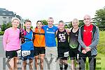 At the Tralee Ultra 100k marathon on Sunday were l-r  Cashe Quilter, James Kelly, Donna McLoughlin, Francis MacManus, Norman Hunter, Aidan Sheridan and John Mac Manus