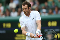 Andy Murray (GBR) during his match with Serena Williams (USA) against Andreas Mies (GER) & Alexa Guarachi (CHI) in their Mixed Doubles First Round Match<br /> <br /> Photographer Rob Newell/CameraSport<br /> <br /> Wimbledon Lawn Tennis Championships - Day 6 - Saturday 6th July 2019 -  All England Lawn Tennis and Croquet Club - Wimbledon - London - England<br /> <br /> World Copyright © 2019 CameraSport. All rights reserved. 43 Linden Ave. Countesthorpe. Leicester. England. LE8 5PG - Tel: +44 (0) 116 277 4147 - admin@camerasport.com - www.camerasport.com