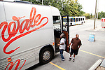 Rapper Wale heads back to his tour bus outside of Magic City, an Atlanta strip club, October 12, 2011.